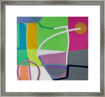 Abstract Angles X Framed Print by Diane Fine
