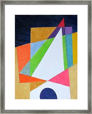 Abstract Angles Xi Framed Print by Diane Fine