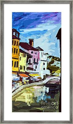 Abstract Annecy Canal France Art Framed Print by Ginette Callaway