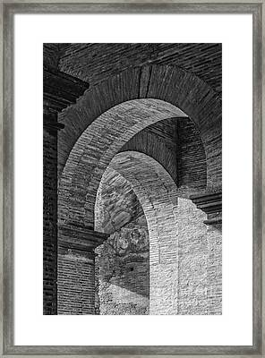 Abstract Arches Colosseum Mono Framed Print