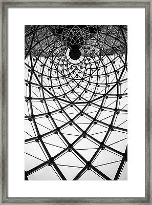 Abstract Architecture Curved Steel Beam Framed Print by Tapanuth