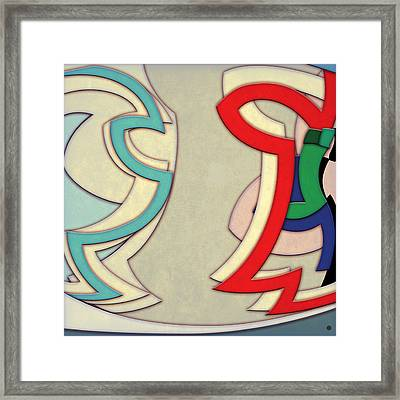 Abstract Arcs Framed Print by Gary Grayson