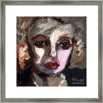 Abstract Art Bette Davis Eyes  Framed Print by Ginette Callaway
