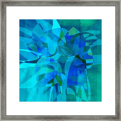 abstract - art- Blue for You Framed Print by Ann Powell