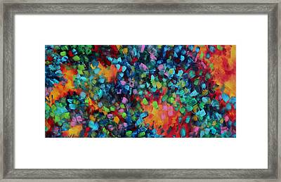 Abstract Art Bold Colorful Modern Art Original Painting Color Blast By Madart Framed Print by Megan Duncanson