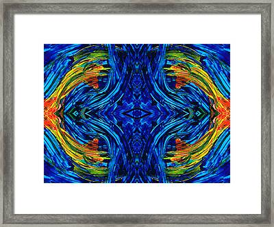 Abstract Art - Center Point - By Sharon Cummings Framed Print by Sharon Cummings