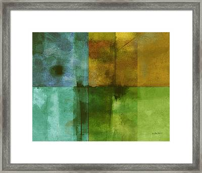 abstract - art- Color Block Rectangle  Framed Print by Ann Powell
