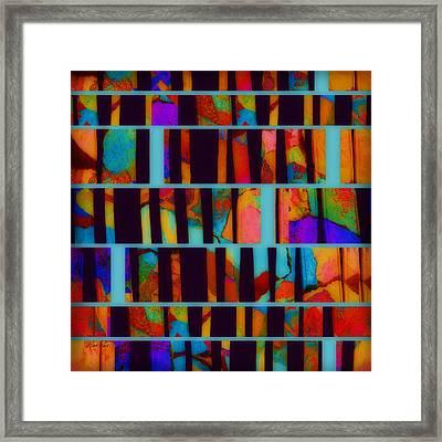 abstract - art- Color Pop  Framed Print by Ann Powell