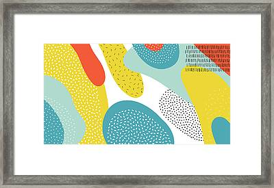Abstract Art Color Vector  Lines And Framed Print by Chaluk