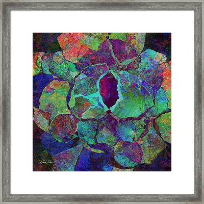 Abstract Art Colorful Collage Framed Print by Ann Powell