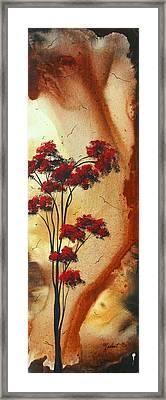Abstract Art Colorful Original Landscape Painting Birds Aloft By Madart Framed Print by Megan Duncanson