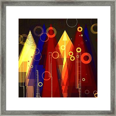 Abstract Art Deco Framed Print