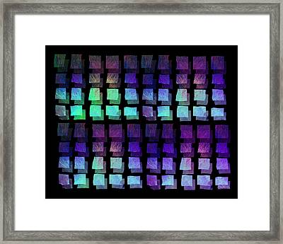 abstract - art- Floating Squares Framed Print by Ann Powell