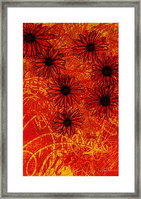 abstract - art- flowers - Daisies  Framed Print by Ann Powell