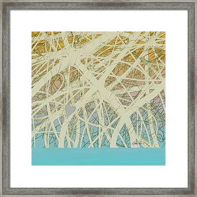 abstract-art-Follow Your Heart Framed Print by Ann Powell