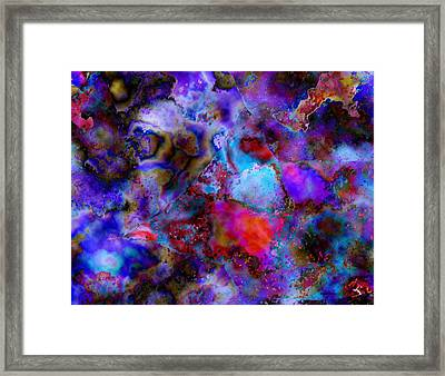 Abstract Art In A Mosaic Effect  Framed Print by Mario Perez