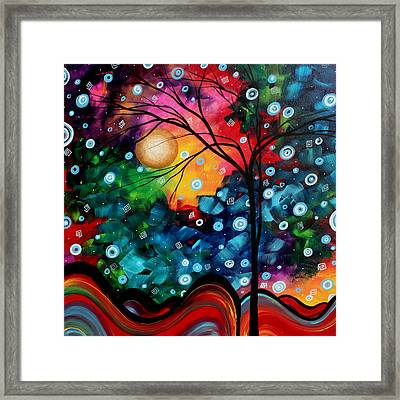 Abstract Art Landscape Tree Painting Brilliance In The Sky Madart Framed Print by Megan Duncanson