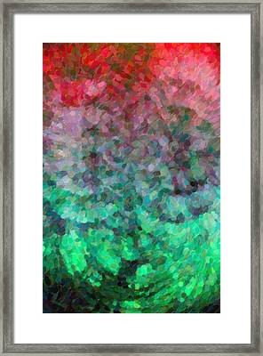 Abstract Art Mixed Colors Framed Print by Tommytechno Sweden