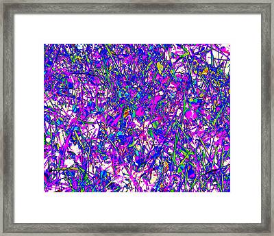 Abstract Art Nature Photography Based Graphic Transformation   Framed Print