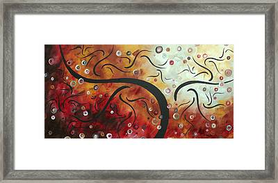 Abstract Art Original Circle Landscape By Madart Framed Print by Megan Duncanson