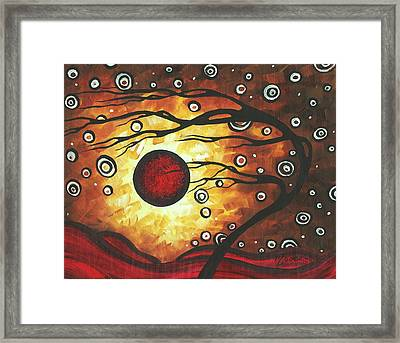 Abstract Art Original Colorful Painting Silent Whispers By Madart Framed Print by Megan Duncanson