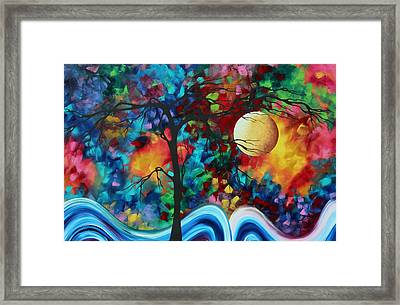 Abstract Art Original Enormous Bold Painting Essence Of The Earth I By Madart Framed Print