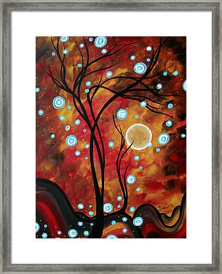 Abstract Art Original Landscape Circle Painting Fairy Dust By Madart Framed Print by Megan Duncanson