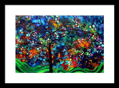 Tree Paint Framed Prints