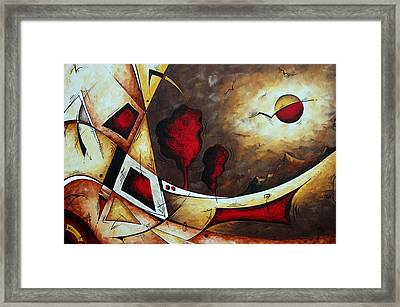 Abstract Art Original Landscape Painting Cosmic Destiny By Madart Framed Print by Megan Duncanson