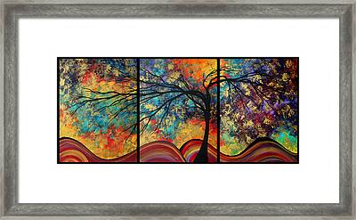 Abstract Art Original Landscape Painting Go Forth By Madart Framed Print by Megan Duncanson