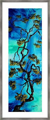 Abstract Art Original Landscape Painting Life Is A Maze By Madart Framed Print by Megan Duncanson
