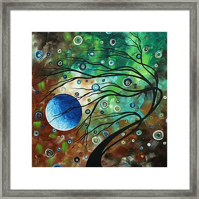 Abstract Art Original Landscape Painting Mint Julep By Madart Framed Print by Megan Duncanson