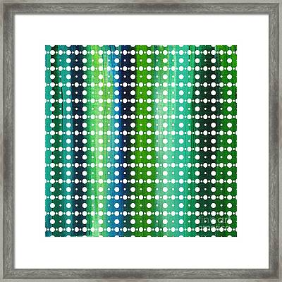 Abstract Art Original Textured Soothing Painting Sea Of Whimsy Stripes II By Madart Framed Print by Megan Duncanson