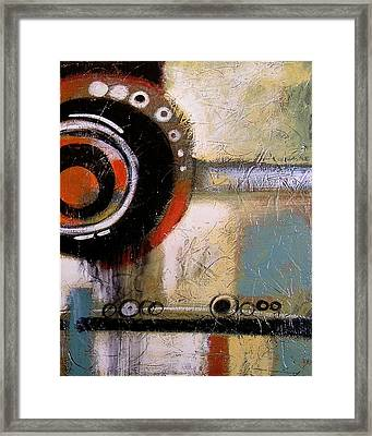 Abstract Art Print ... The World Goes Round 2 Framed Print by Amy Giacomelli