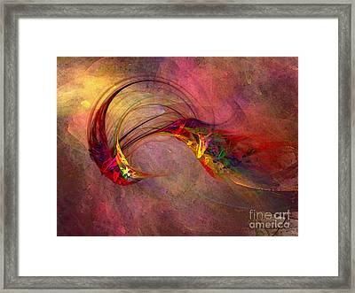 Abstract Art Print Hummingbird Framed Print by Karin Kuhlmann