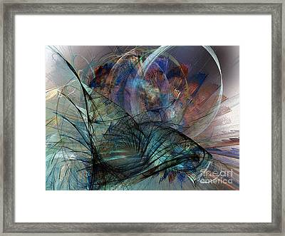 Abstract Art Print In The Mood Framed Print by Karin Kuhlmann