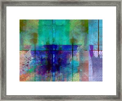 abstract - art- Rhapsody in Blue Framed Print