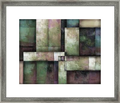 abstract art Spring Twilight Three Framed Print by Ann Powell
