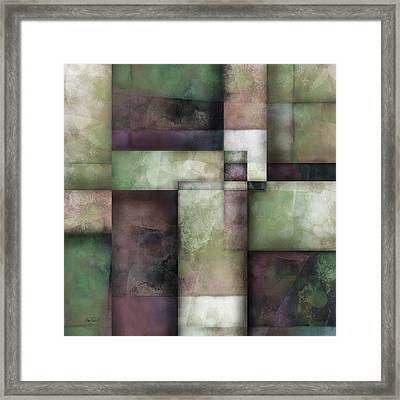 abstract - art-  Spring Twilight Two Framed Print by Ann Powell