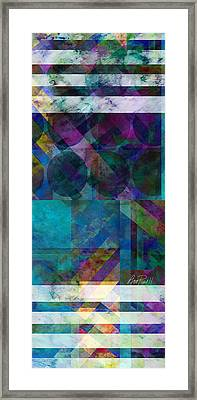 abstract - art - Stripes Five  Framed Print by Ann Powell