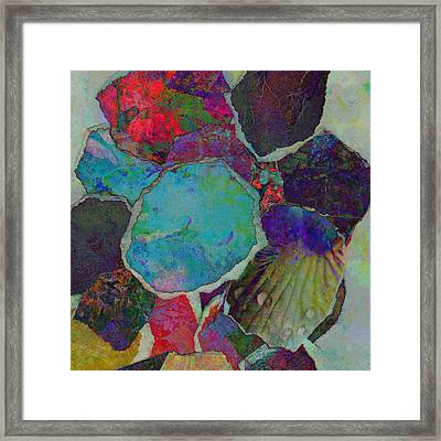 Abstract Art Torn Collage  Framed Print by Ann Powell