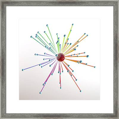 Abstract Artwork With Connected Spheres Framed Print