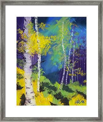 Abstract Aspens Framed Print by Dana Strotheide