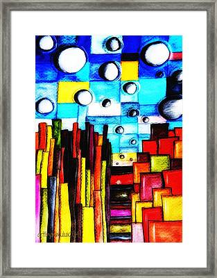 Abstract Autumn Landscape Framed Print