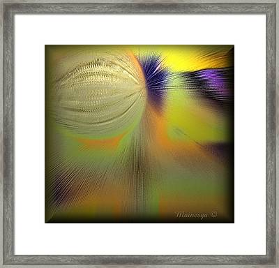 Abstract-b-e-g Framed Print by Ines Garay-Colomba