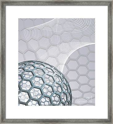 Abstract Background With Buckyball Framed Print by Christos Georghiou