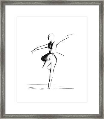 Abstract Ballerina Dancing Framed Print