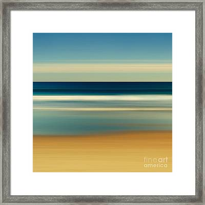 Abstract Beach Day Framed Print by Katherine Gendreau
