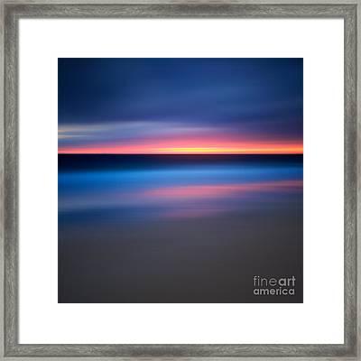 Abstract Beach Sunset Framed Print