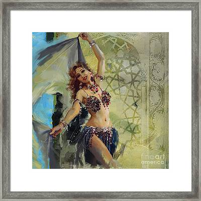 Abstract Belly Dancer 1 Framed Print by Mahnoor Shah